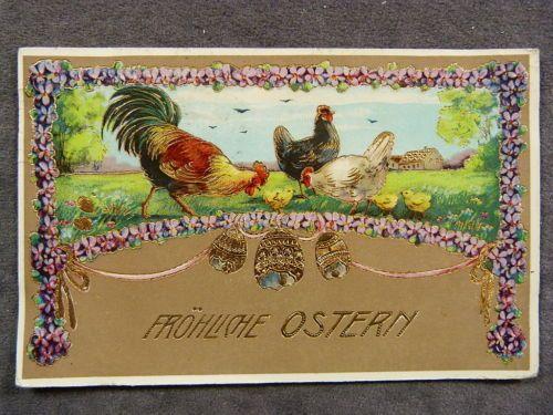 Hochglanz Gold Litho - Ostern /78   eBay: 7 euro