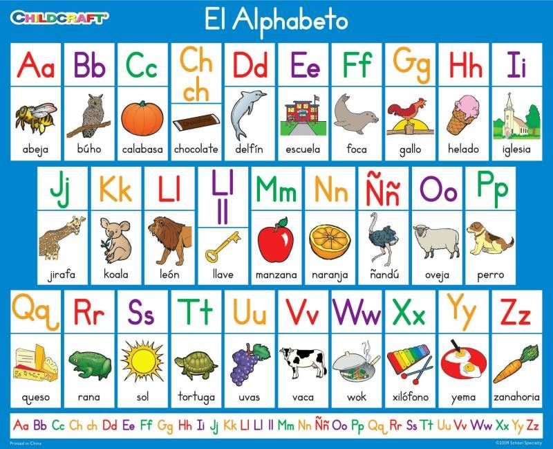 Childcraft Literacy Charts Spanish Alphabet   X  Inch  Set Of