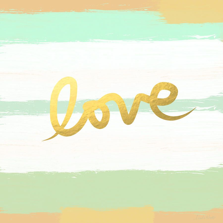 Love In Mint And Gold Painting