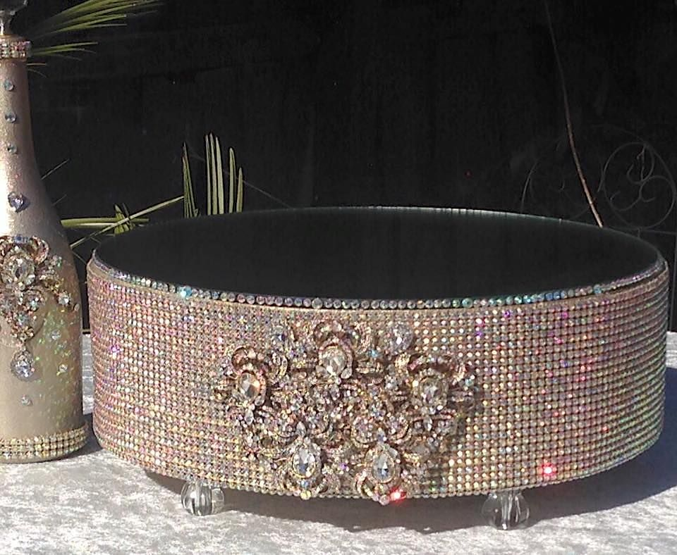 Beatrice By Rhinestone Cake Stand By Elevate The Cake Www