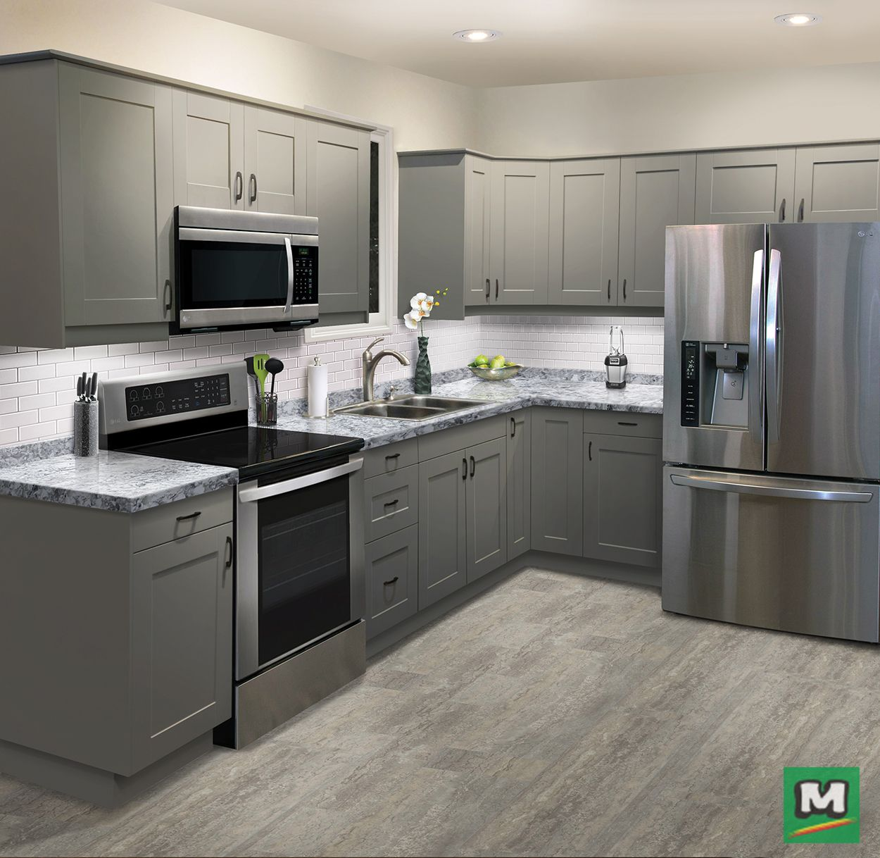 Klearvue Cabinetry Has It All From Full Access Cabinet Construction To Elegant Finishes This Custo Menards Kitchen Cabinets Menards Kitchen L Shaped Kitchen