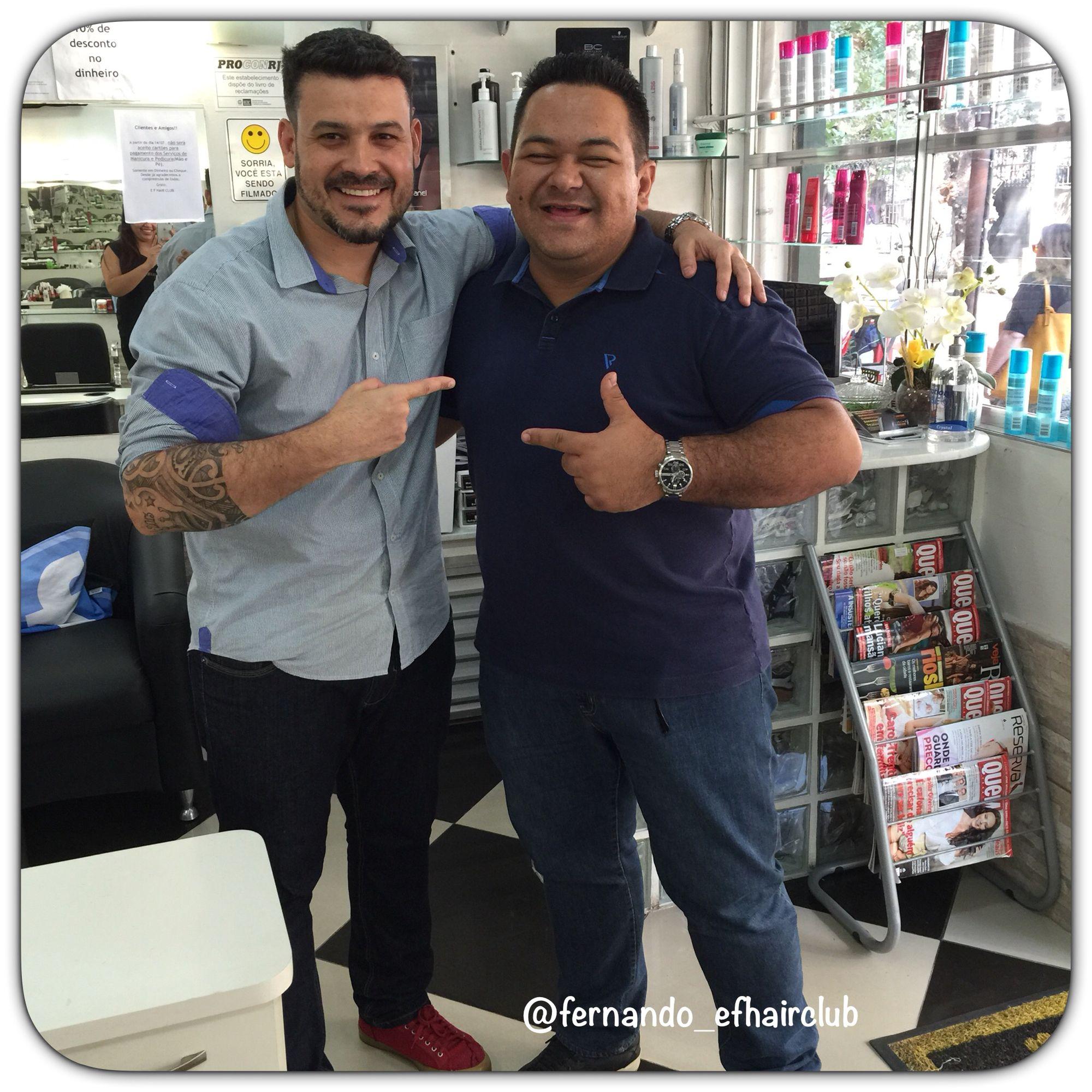 Obrigado, Vinícius Mattos pela moral de sempre!!! #ObrigadoSenhor #DeusNaFrente #EFHairClubBARbearia #EFHairClub #barbershopbrasil #tijuca  #cortando #TapaNoVisual #cabelo #cortemasculino #pompadour #barberlove #barbershopconnect #barbersince98