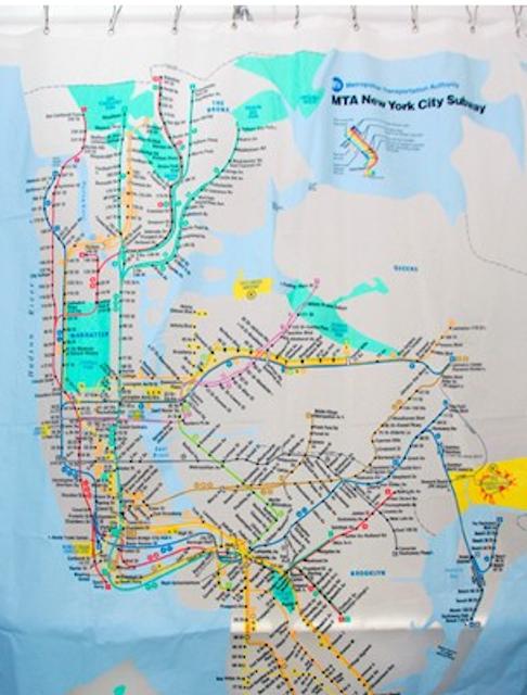 Ny Subway Map Shower Curtain.Ny Transit Museum Subway Map Shower Curtain Things I Like In
