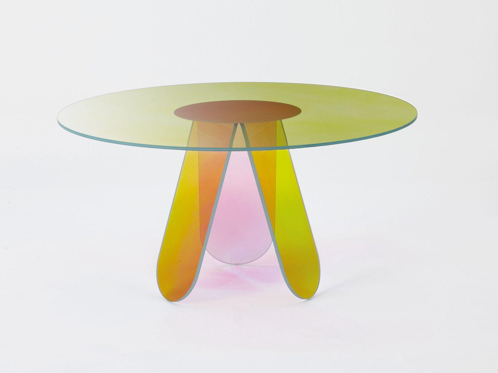 Shimmer Stol Kollekciya Shimmer By Glas Italia Dizajn Patricia Urquiola In 2020 Dining Table Design Contemporary Dining Table Dining Table