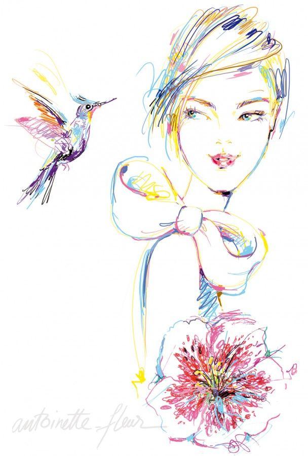 Fleur Illustration antoinette-fleur : illustration | caroline maréchal | antoinette
