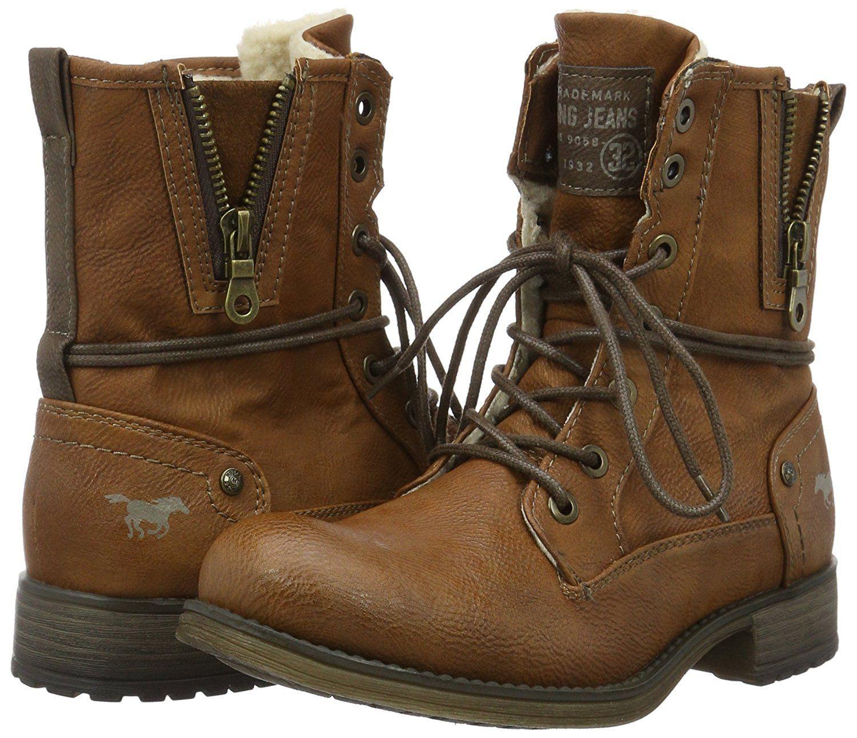 hot sale online 8ac97 7a75d Mustang Damen 1139-630 Kurzschaft Stiefel: Amazon.de: Schuhe ...
