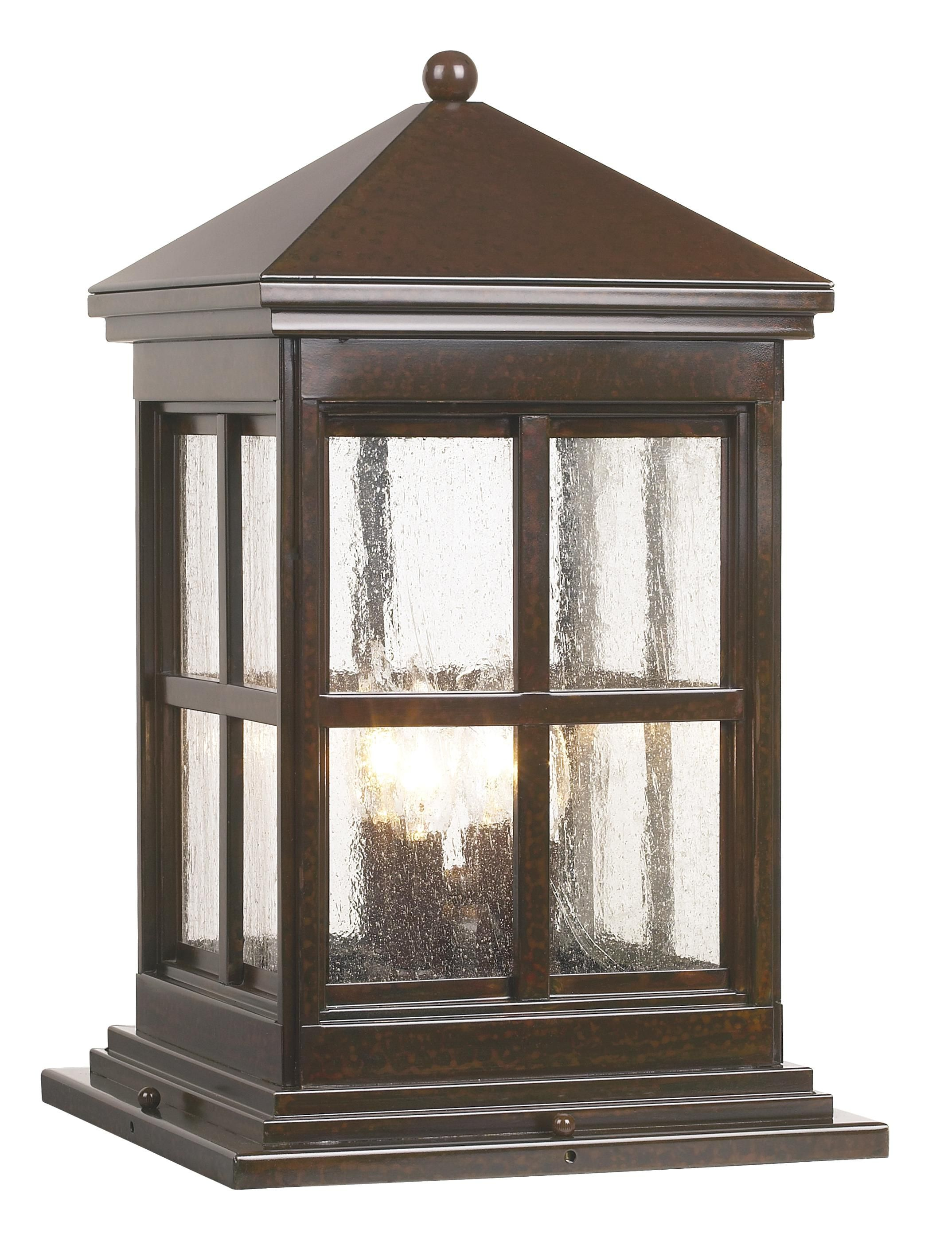 outdoor pier mount lights large berkeley collection 18 34
