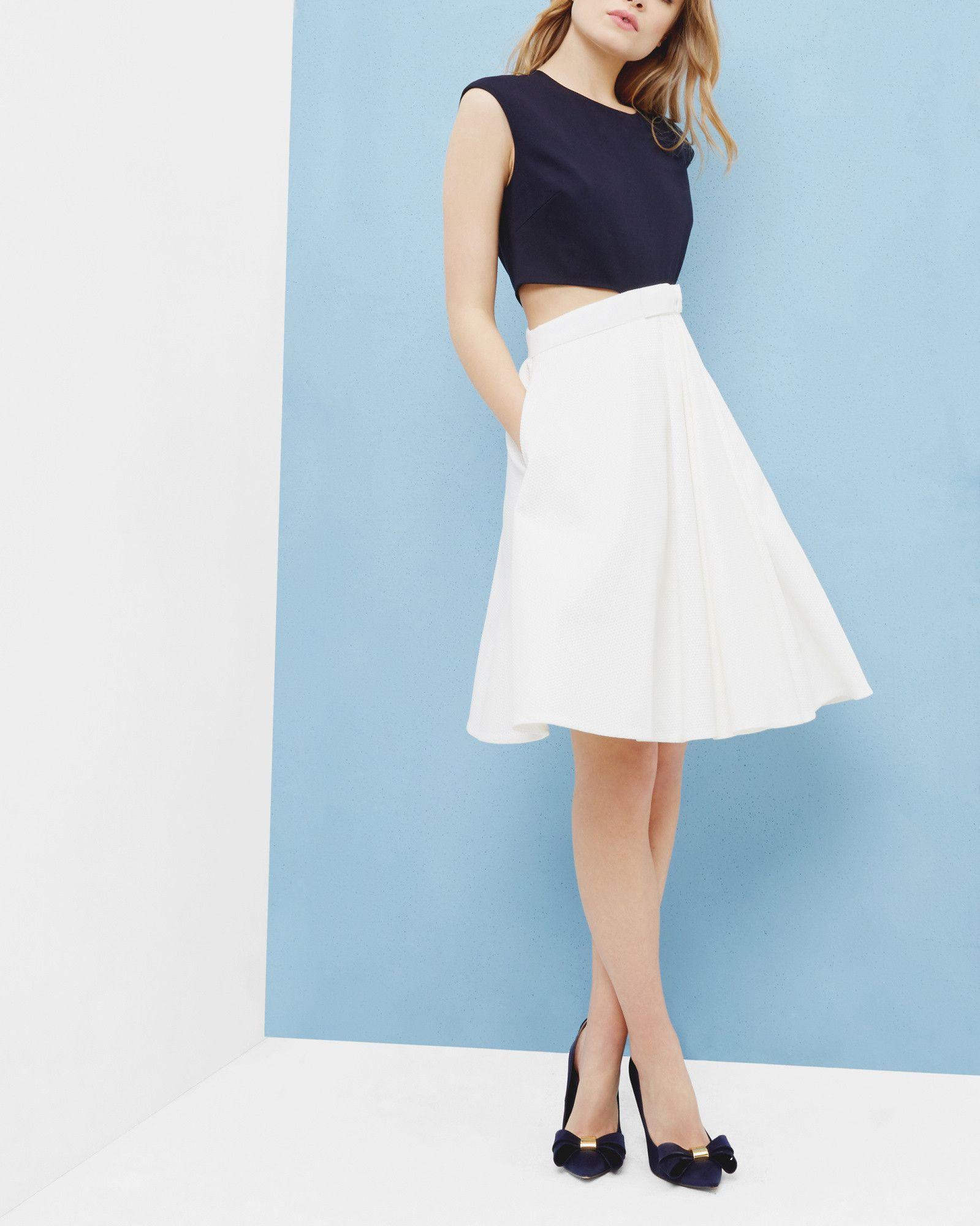 Bow detail cut-out dress - Navy | Dresses | Ted Baker UK | Envies de ...