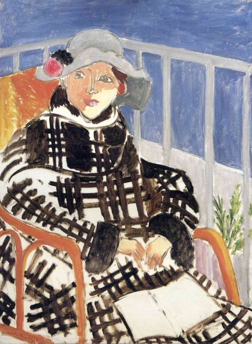 Mlle Matisse in a Scotch Plaid Coat Henri Matisse, 1918
