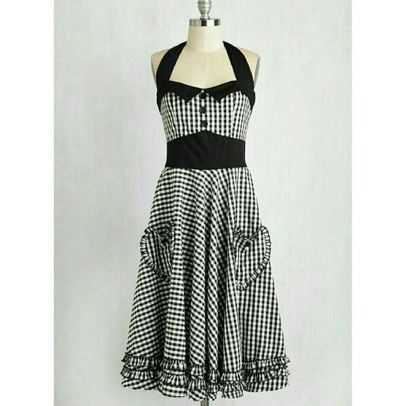 e65c059dfb22d Modcloth Checker Vintage Pinup Dress Worn a few times. Great condition. ModCloth  Dresses