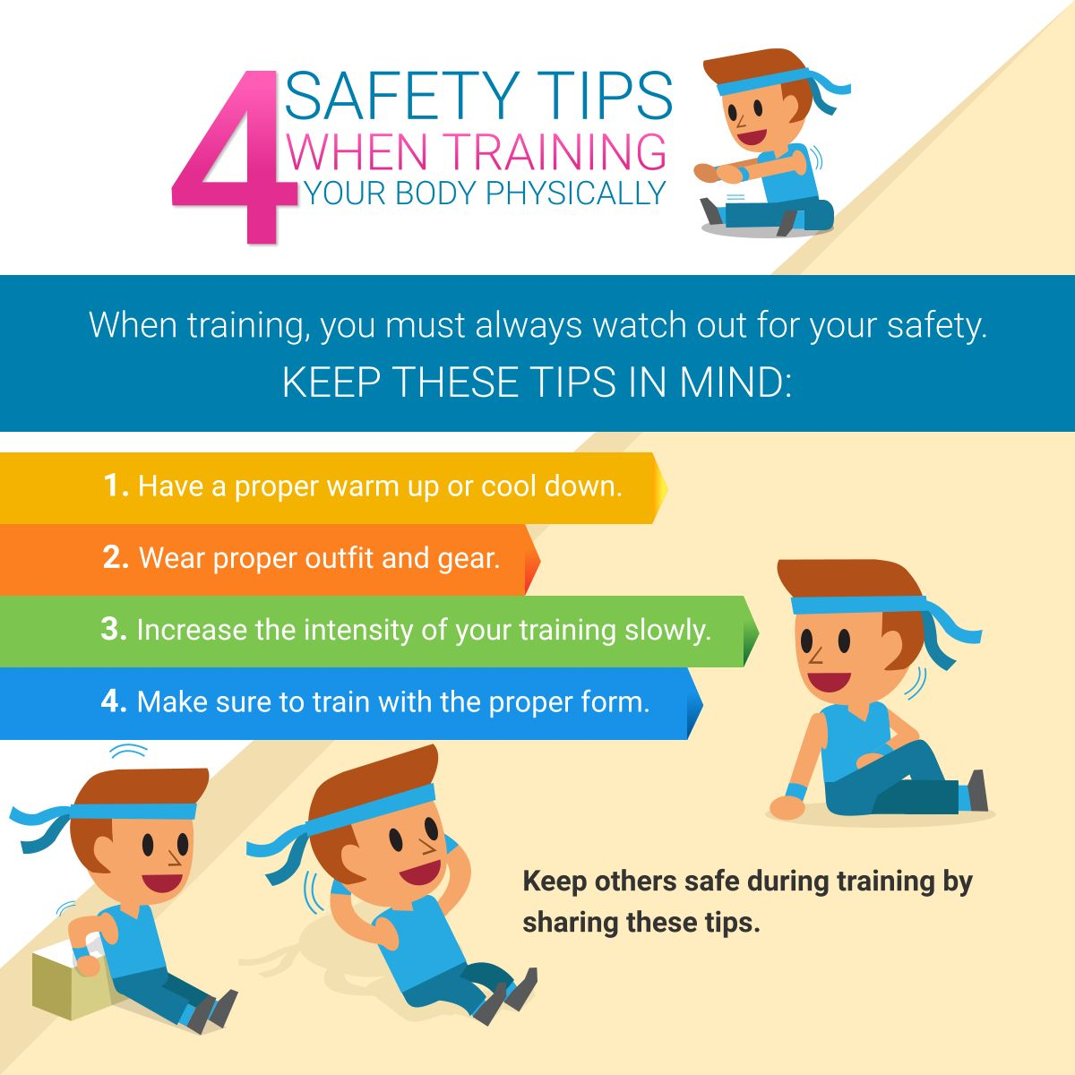 4 Safety Tips When Training Your Body Physically
