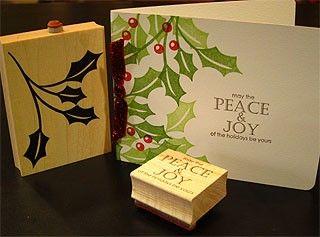 Peace and Joy Holly http://www.impresscardsandcrafts.com/