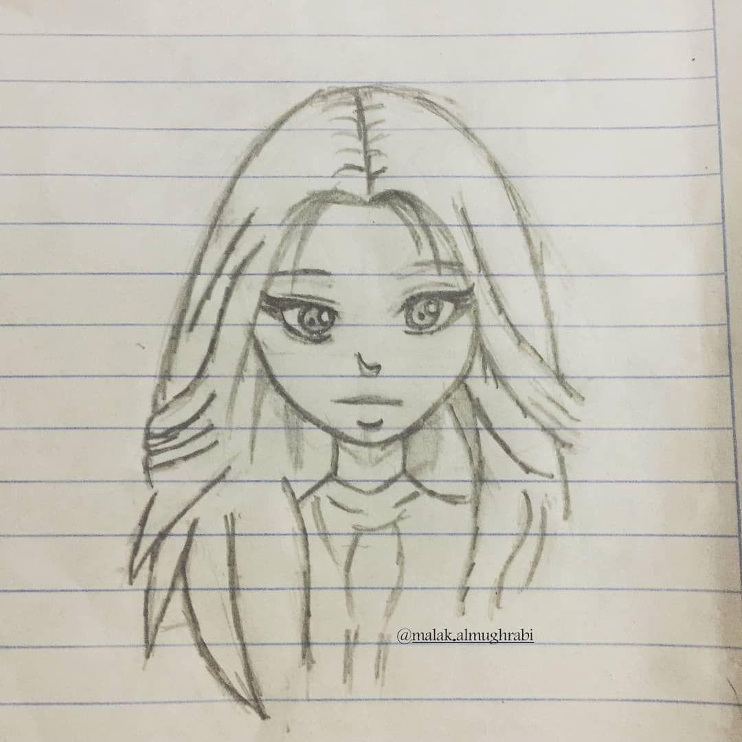 هل تصدق أن هذه الرسمة رسم طفلة عمرها 8 سنوات رسم بانة بنت أختي Doaa Almughrabi رأيكم برسمها بالنسبة لعمرها اكسبلور فولو Female Sketch Art Female