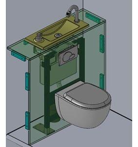 Habillages Pour Wc Suspendus Geberit Avec Lave Mains Integre Habillage Wc Suspendu Wc Suspendu Idee Deco Toilettes