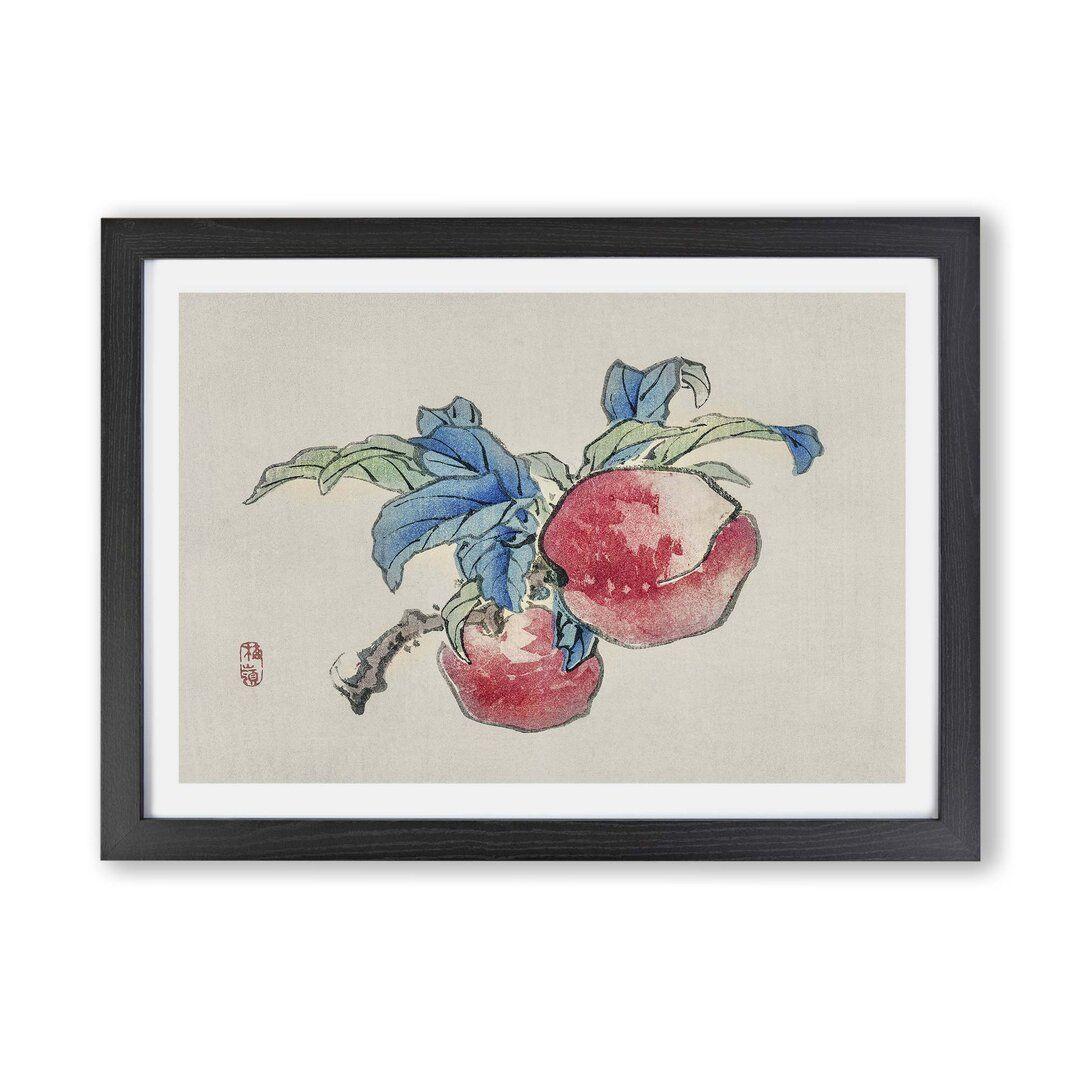 410+Gerahmtes Poster Peaches von Kono Bairei