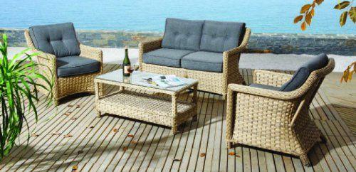Gartenmöbel Rattan Lounge Set Polyrattan Sitzgruppe Rattanmöbel ...