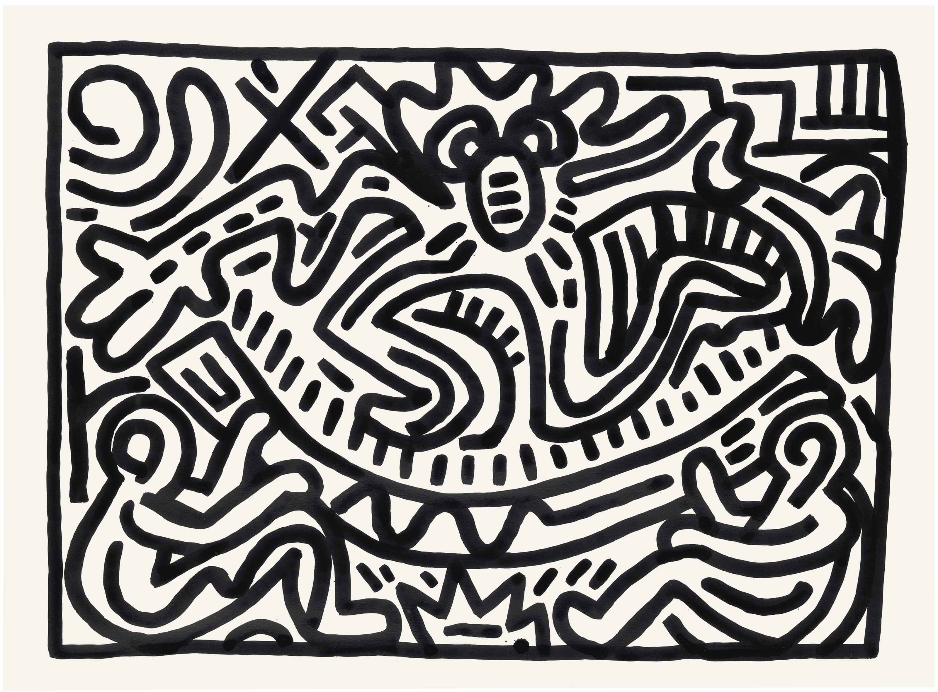 Keith Haring 1958 1990 Untitled 1980s Paintings