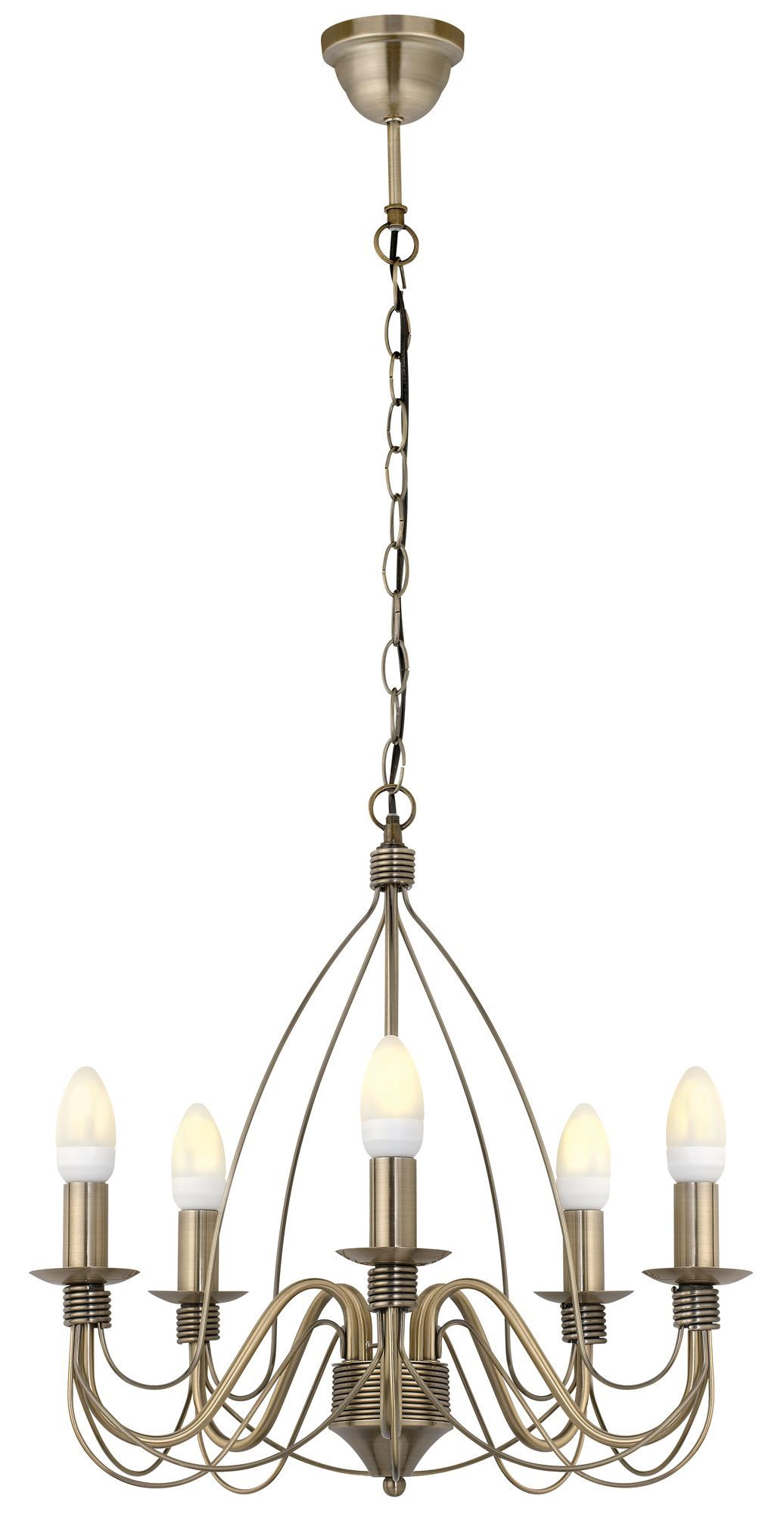 Vas Birdcage 5 Lamp Pendant Ceiling Light