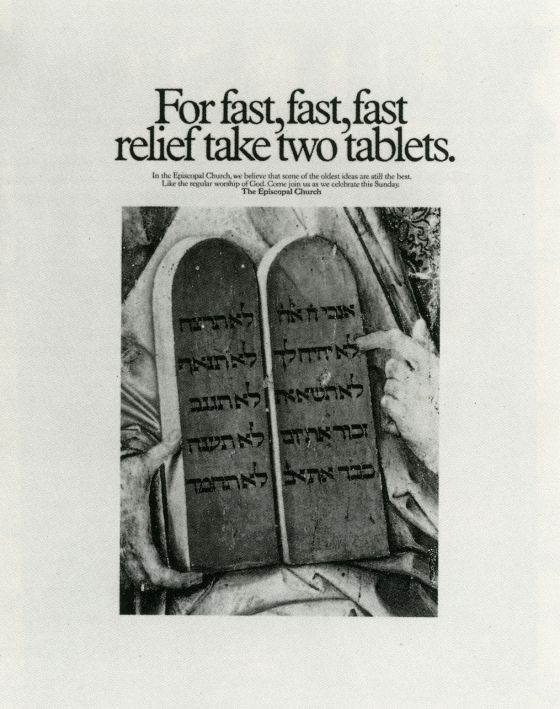 For fast, fast, fast relief take two tablets  -Episcopal
