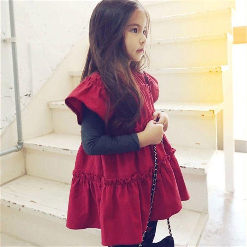 c2087bc1e Dresses for Girls Popular Little Girls Loose Short Sleeve Princess ...