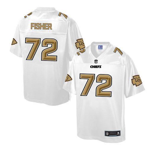 mens nike kansas city chiefs 72 eric fisher game white pro line fashion nfl jersey elite