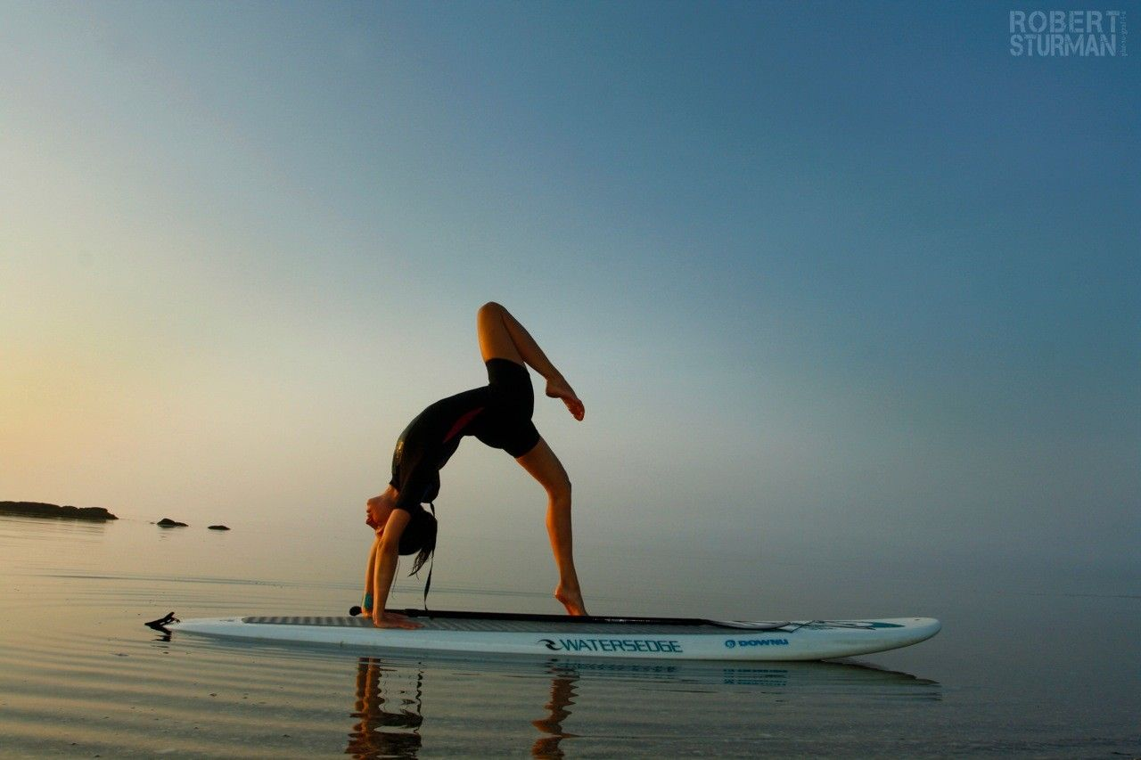 Stand Up Paddleboard Yoga On The Long Island Sound By Danielle Brown