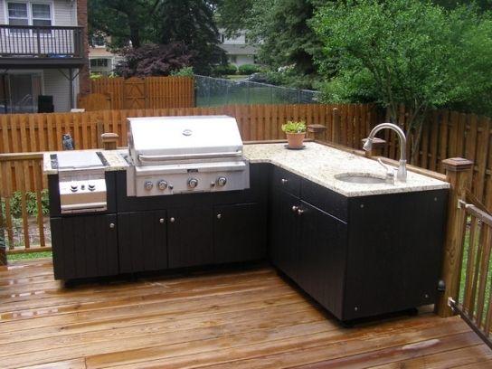 Elegant Outdoor Kitchen Cabinets Polymer | Outdoor kitchen ...