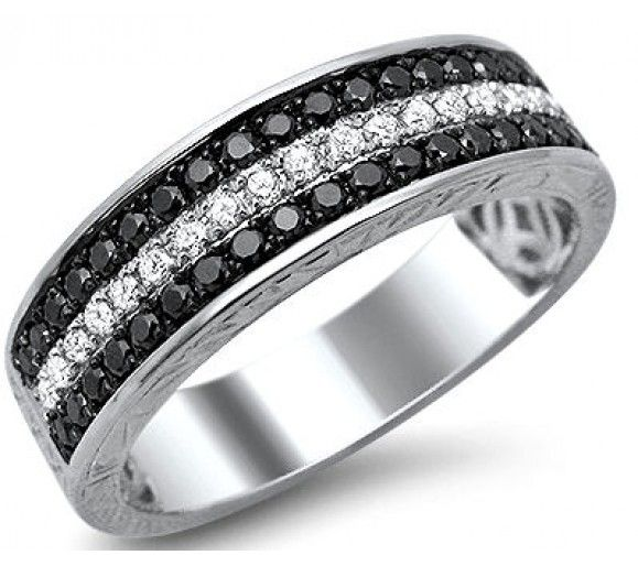 k gold baguette diamond mens wedding ring men wedding band with - Diamond Wedding Rings For Men