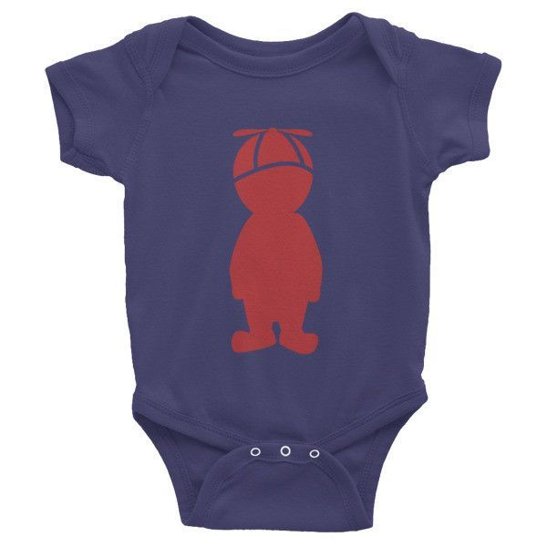 Brick Red Twirler - Infant short sleeve one-piece