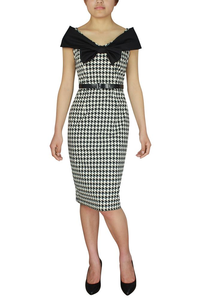 Printed Bow Collar Pencil Dress Changed by Candy Culture design by Amber Middaugh -One time Prototype Auction! --This skirt will be custom made in the winning bidder's size. Auction Ends June 19 2014