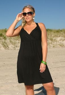 f258d592b6 Women's Plus Size Cover Ups - Always For Me Cover Surplice Front Dress