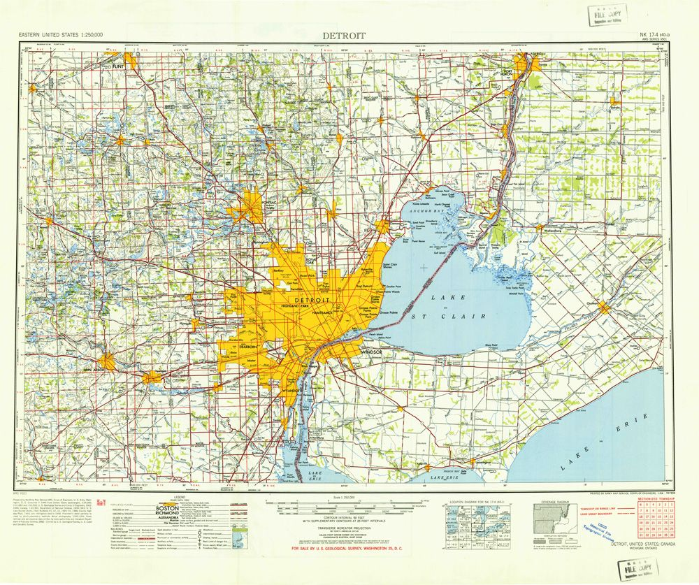 Metro Detroit Traffic Map.Detroit Map 1960 Maps And Aerials Detroit Detroit Map Detroit