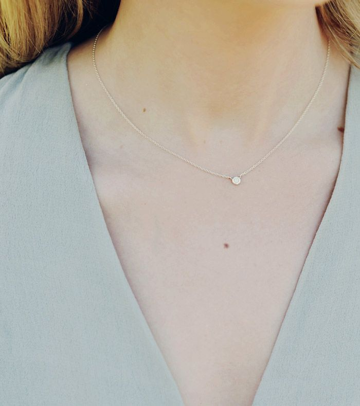 ea3622a2c A dainty gold necklace kinda like this. Tiffany Co Elsa Peretti Diamonds By  The Yard Necklace