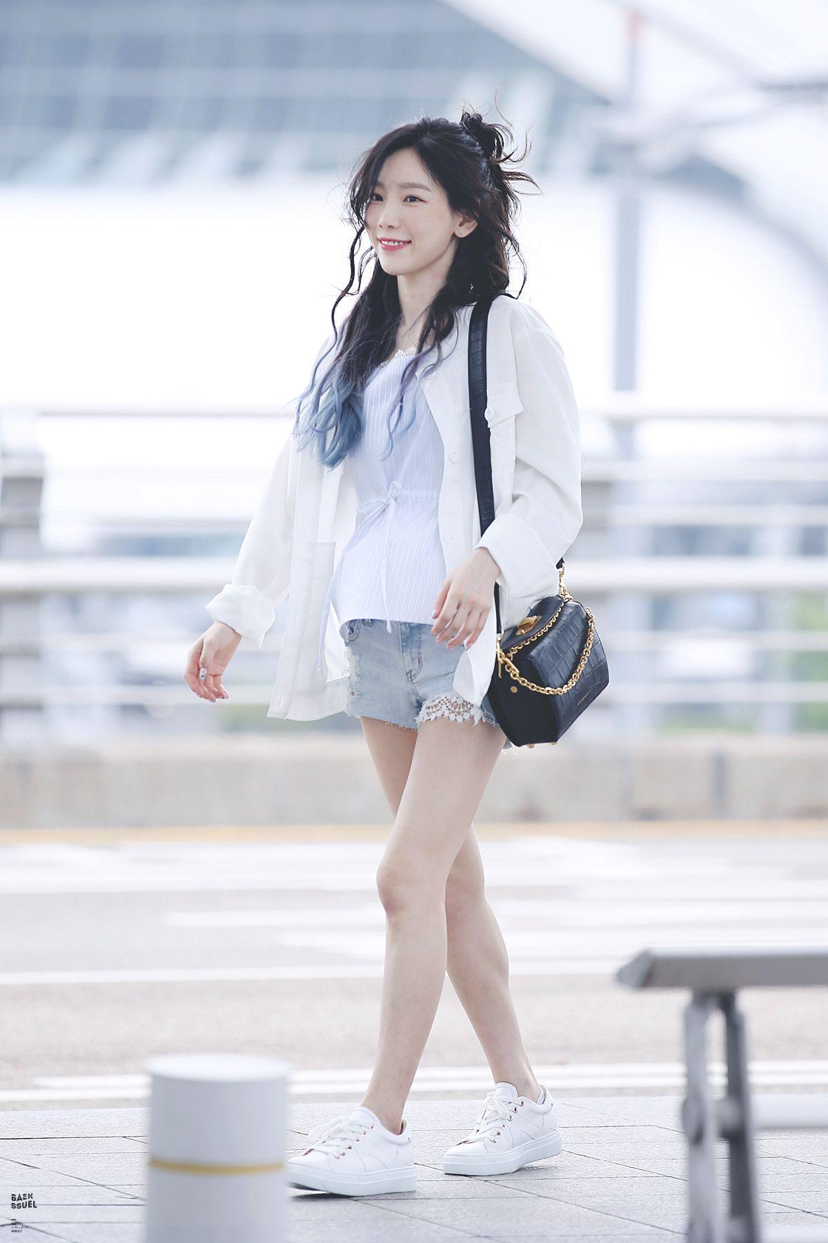 Artis Korea Ke Airport Pun Tetap Stylish Dan Fashionable Banget Spice