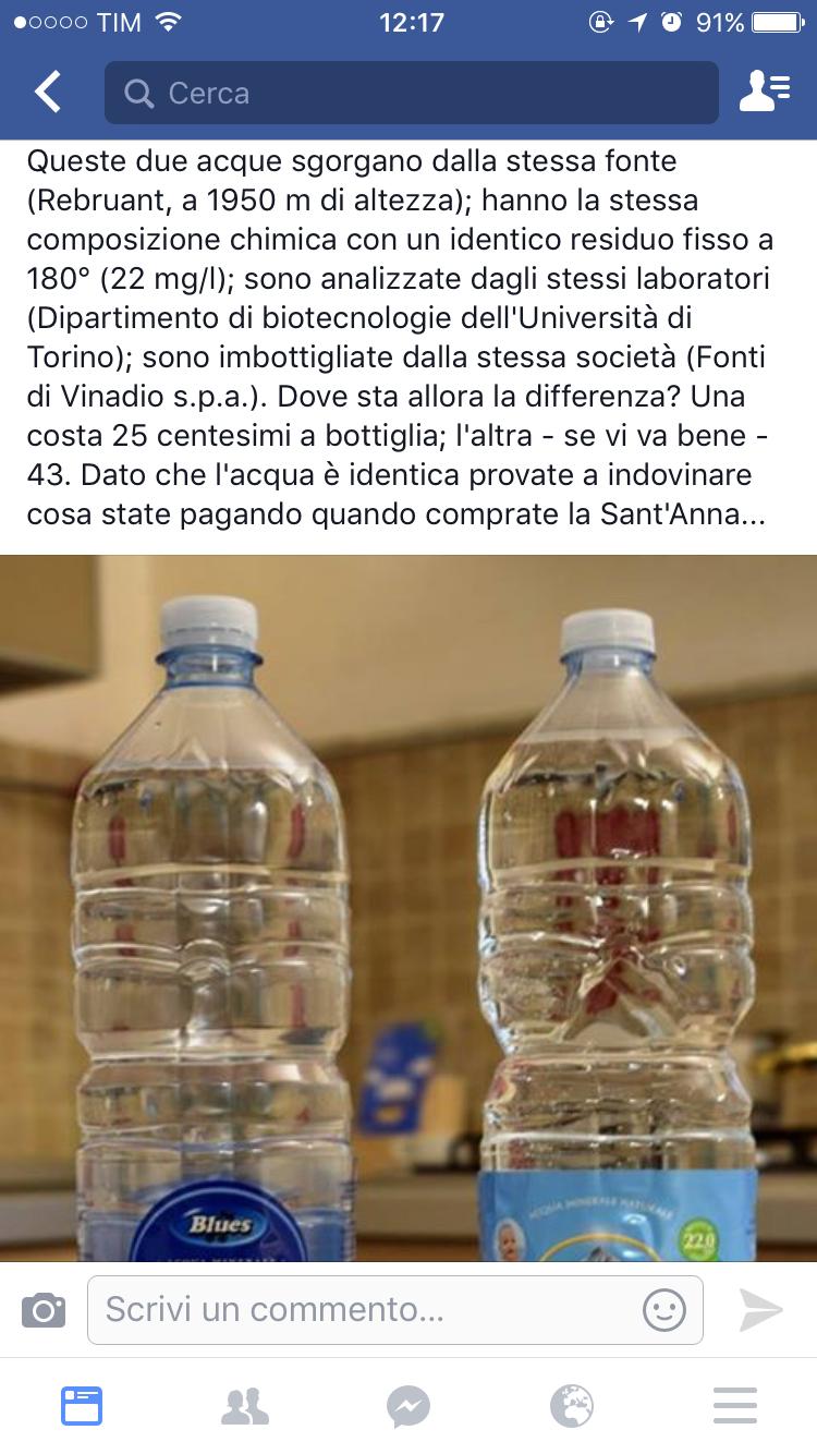 Differenze Acqua Santanna Eurospin Prezzo Salute E Benessere