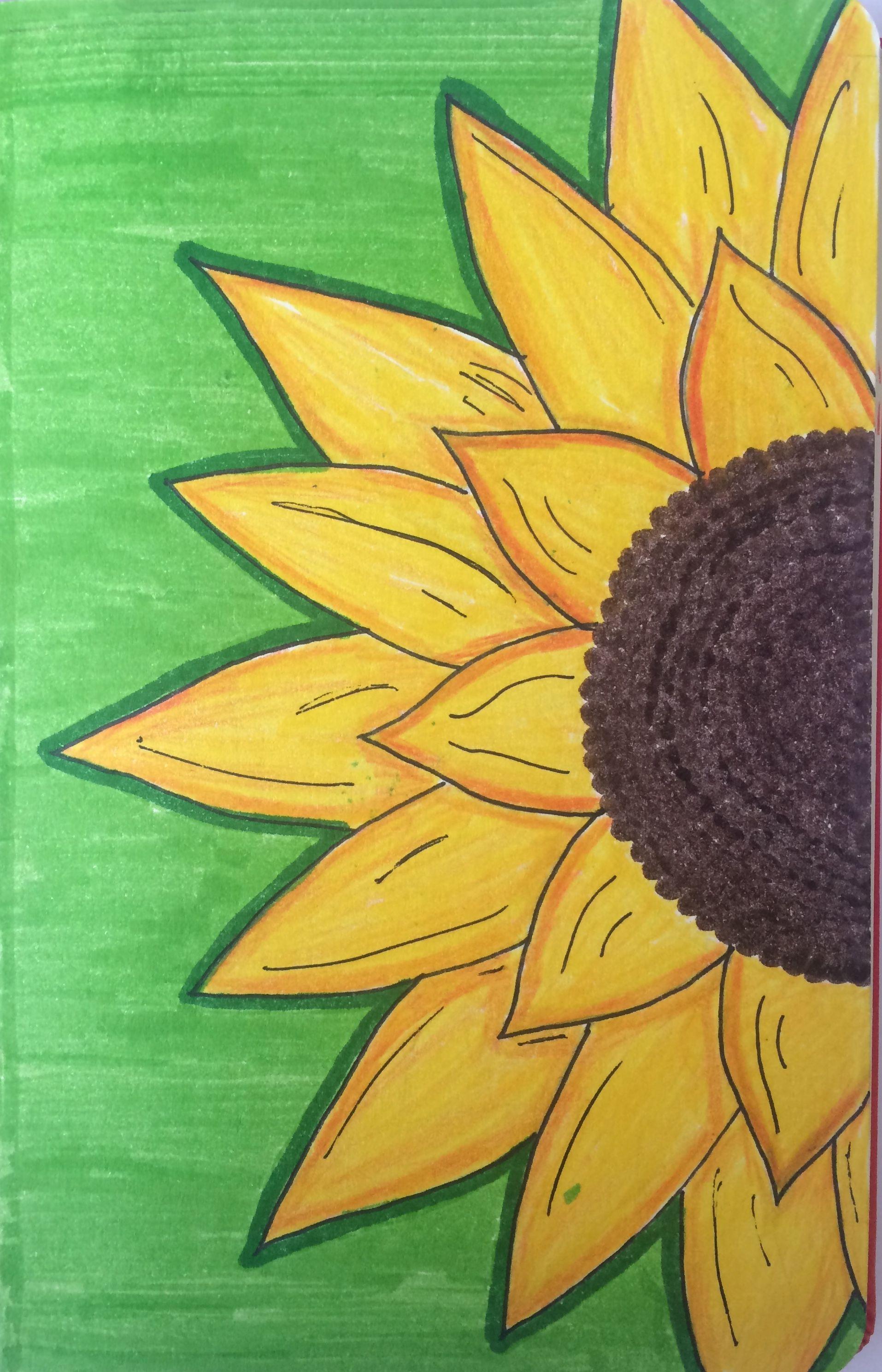 Me Gusra Dibujos Simples Tumblr Girasoles Dibujo Dibujos Tumblr