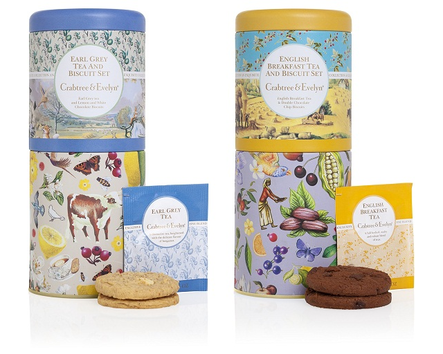 Tea & Biscuit tin gift set. Available at Memento Gift Shop, Palm Springs 760-325-1963