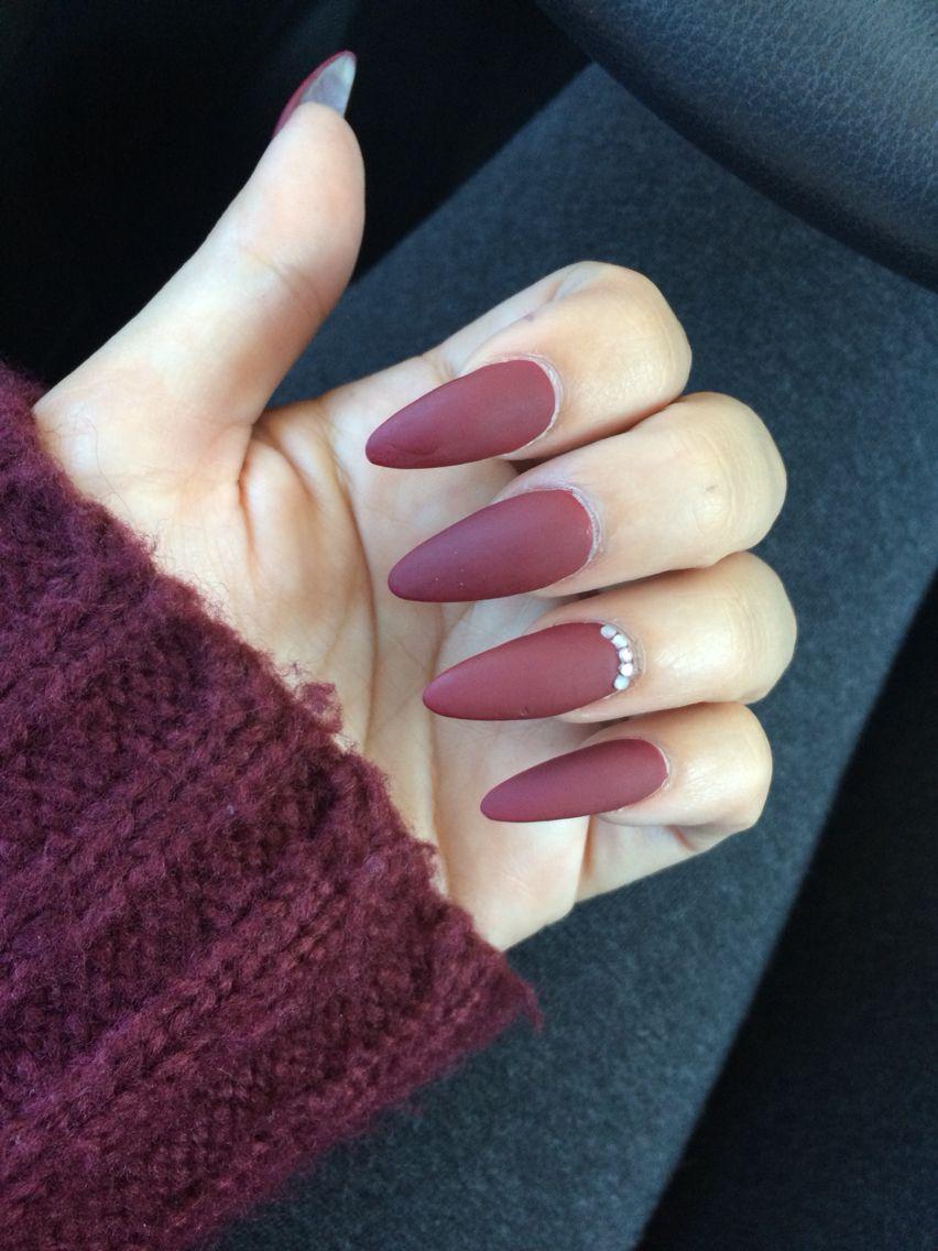 Stiletto matte nails | leah | Pinterest | Matte nails, Stilettos and ...