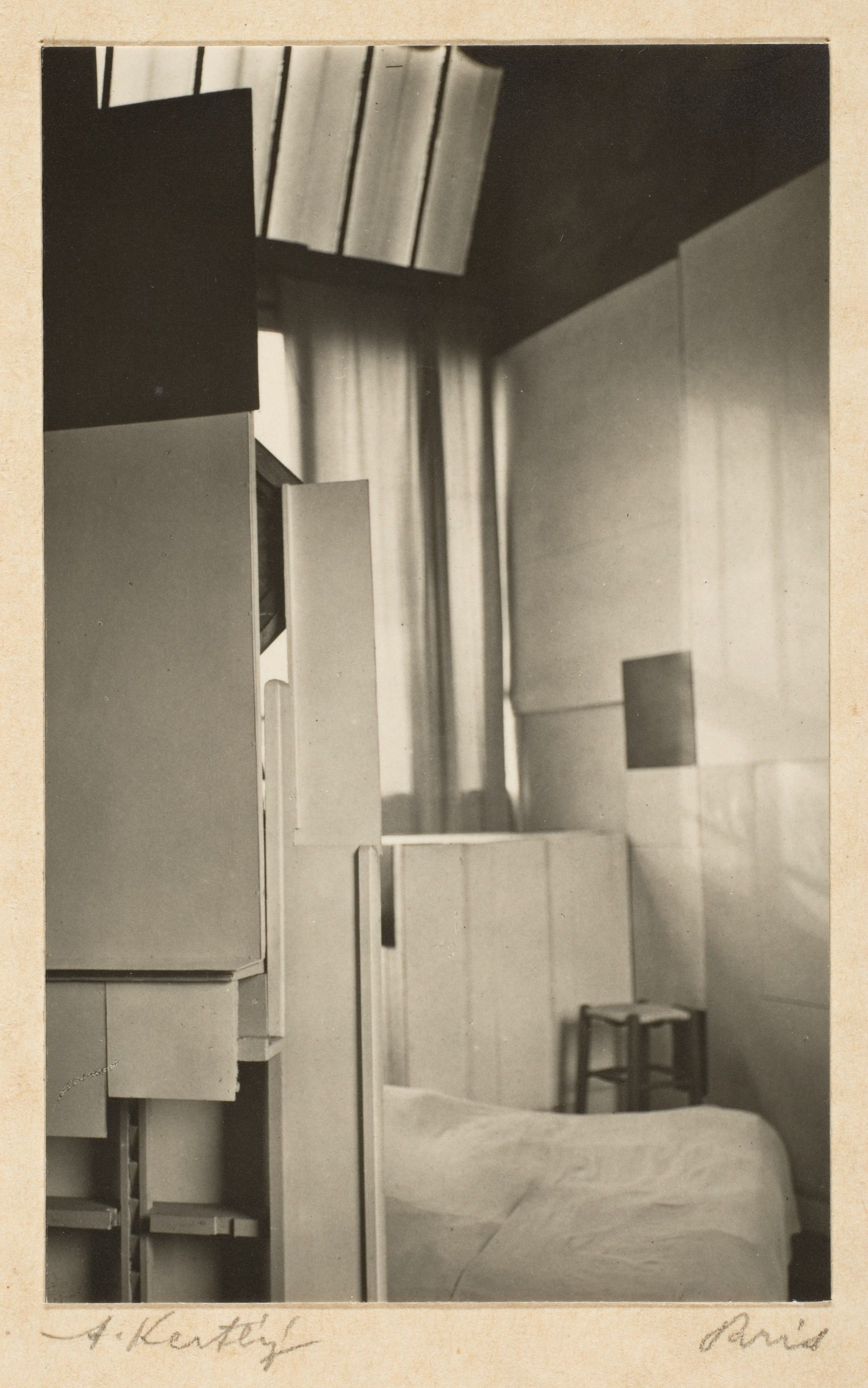Mondrian's Studio, Paris André Kertész (American (born