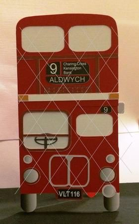 Routemaster RM116 London Bus layered card template and opti on