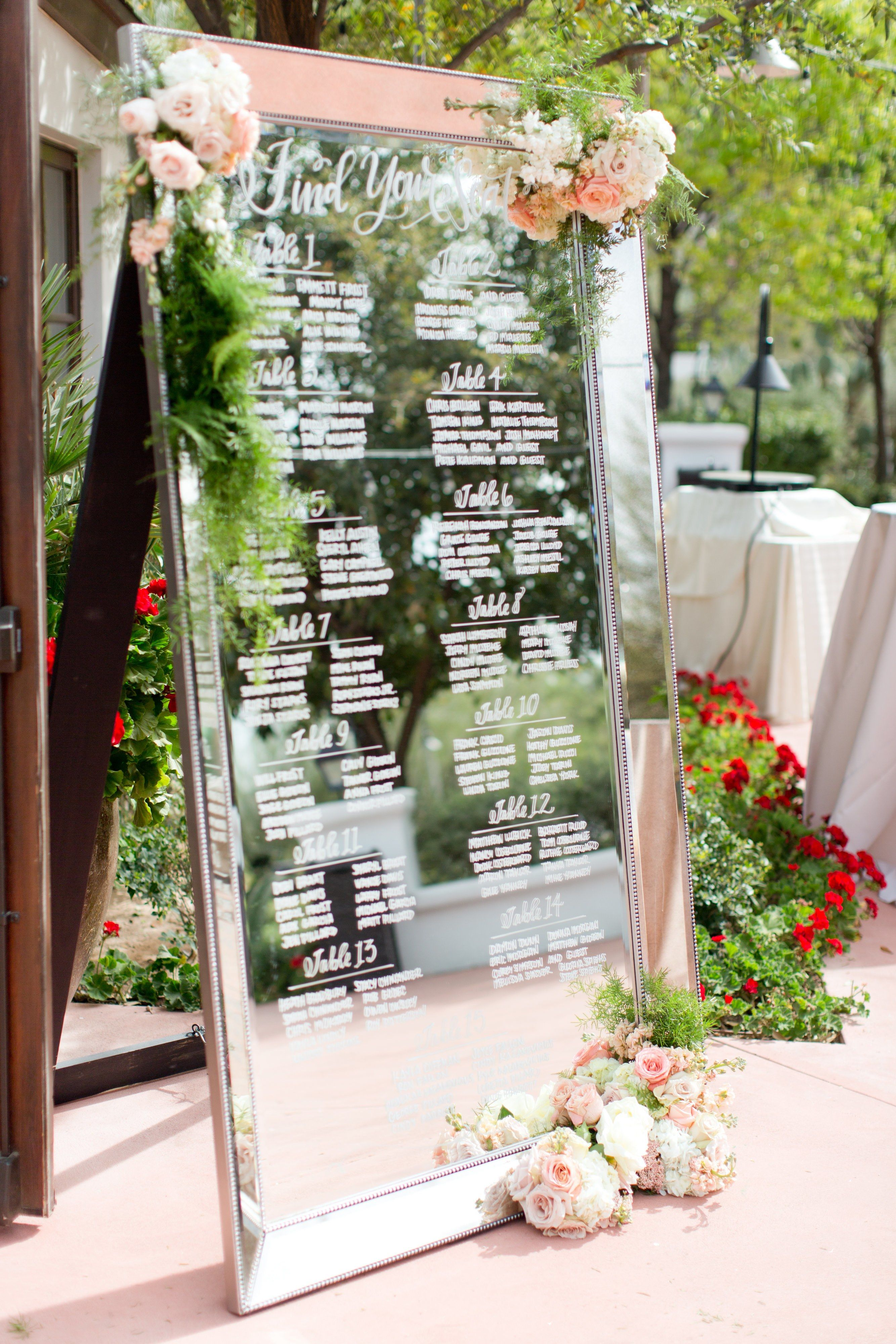 Wedding Mirror Signs Aren T Going Anywhere Here Are 11 We Love Wedding Mirror Seating Chart Wedding Rustic Wedding Signs Diy
