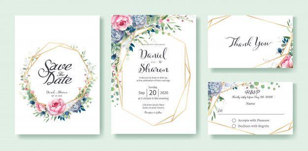 Wedding Invitation Card Template Wedding Invitation Cards Rsvp Wedding Cards Wedding Invitation Card Template