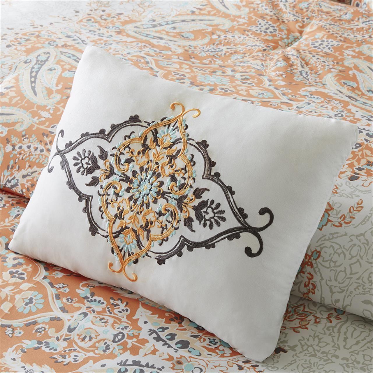 Minet coverlet set paisley design designer living and pillows