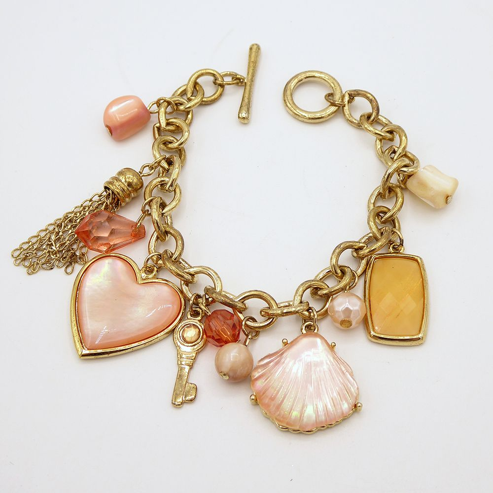 Shell /& Heart Charms Bracelet Charm Bracelet