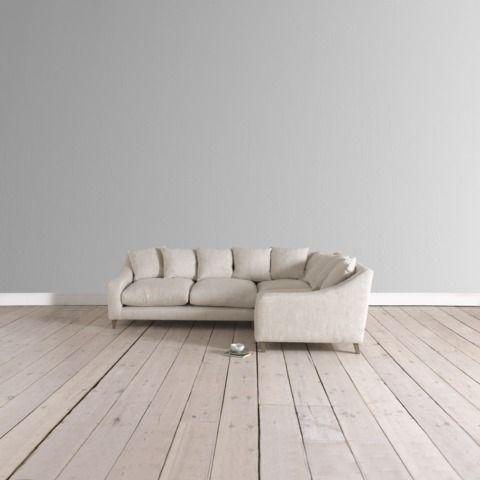 Oscar Corner In Mid Grey Broad Stripe With Bobble Rug Loaf Com