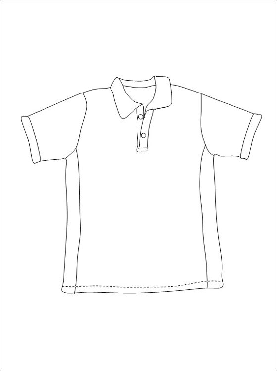 Quatang Gallery- T Shirt Om In Te Kleuren Overhemd Kleding Kleurplaten