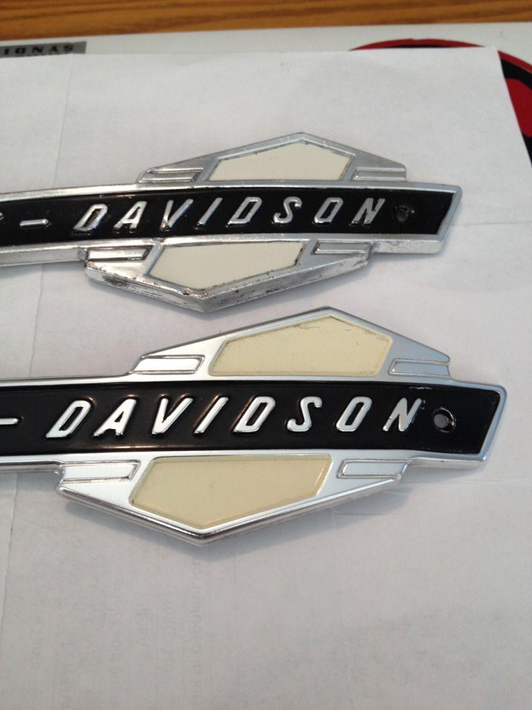 Harley Davidson Oldschool Tank Emblem Decal