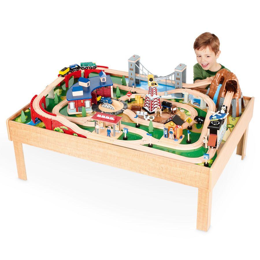 Imaginarium Classic Train Table With Roundhouse Rumpus