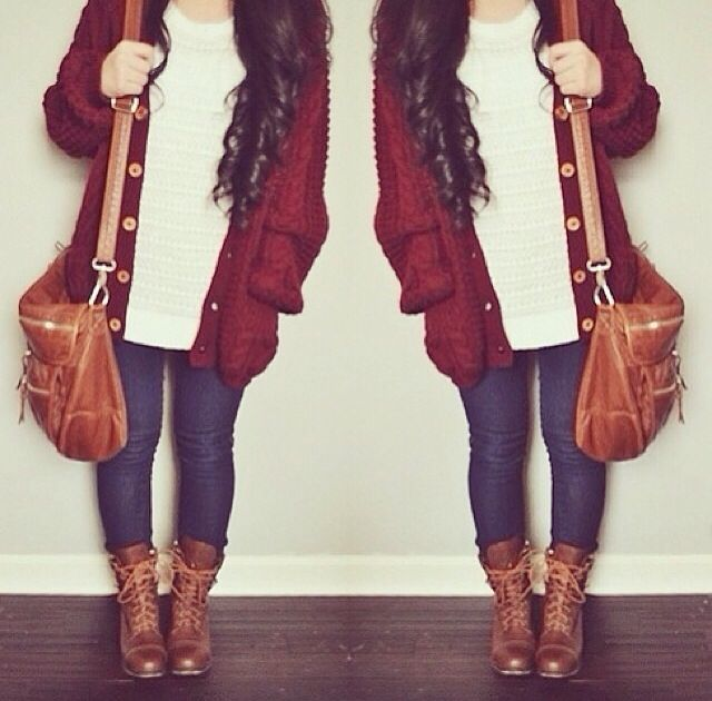 I love this look with the leggings, leg warmers, and brown boots ...