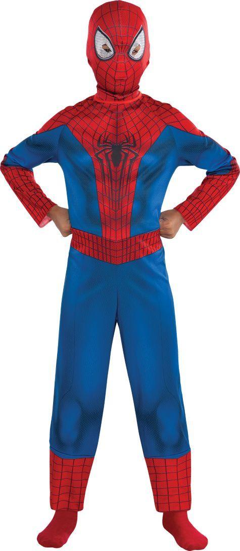 Boys Amazing Spiderman Costume The Amazing Spider Man 2 Party City Spiderman Costume Costumes Halloween Costumes